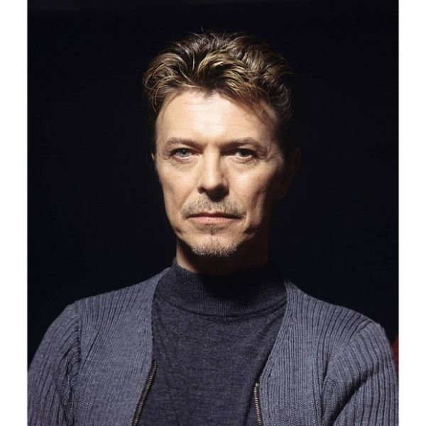 David Bowie Taper Haircut for Older Men