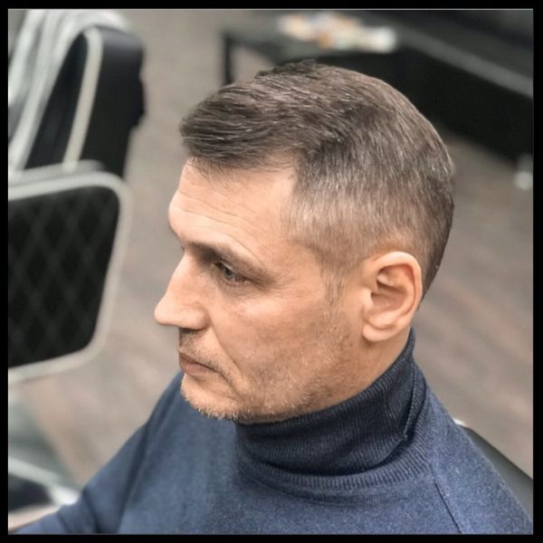 Executive Haircut for Grey Hair