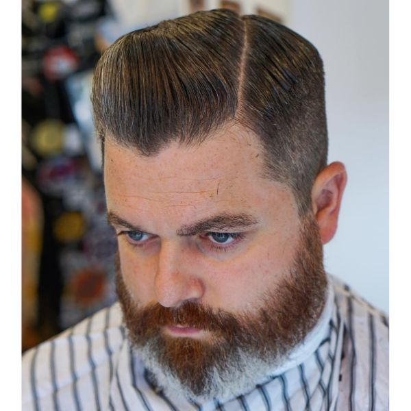 Executive Haircut with Pompadour Elements Hairstyle for Older Men