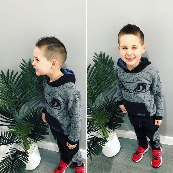 Faux Mohawk for Short Faded Boys Haircut