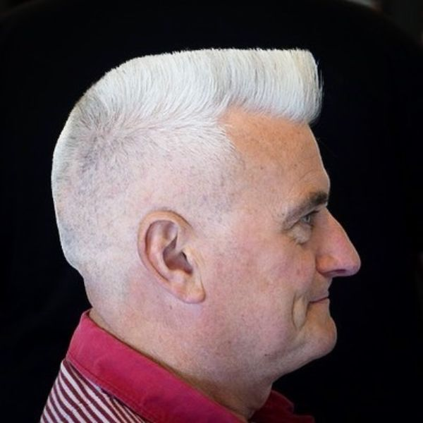 Flat Top For Straight White Hair