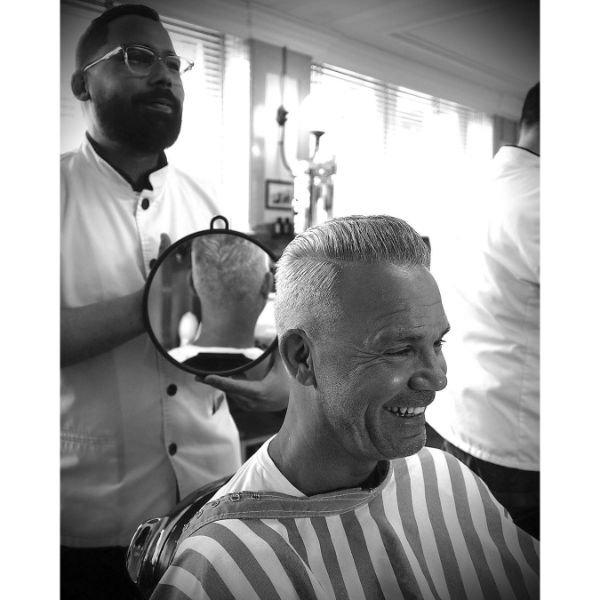 Flattop Haircut for White Hair