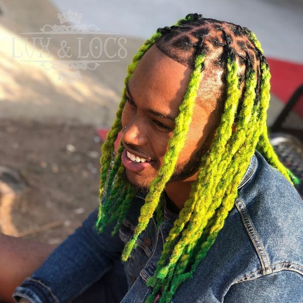 Fluorescent Twisted Braids for Long Hair
