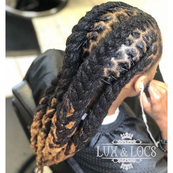 Four Jumbo Box Braids for Long Hair