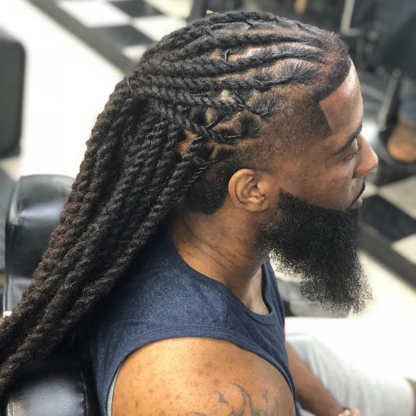 Front Fade Haircut with Long Dreads