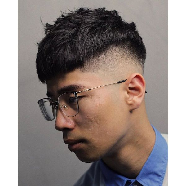 High Fade Cut with Layered Top
