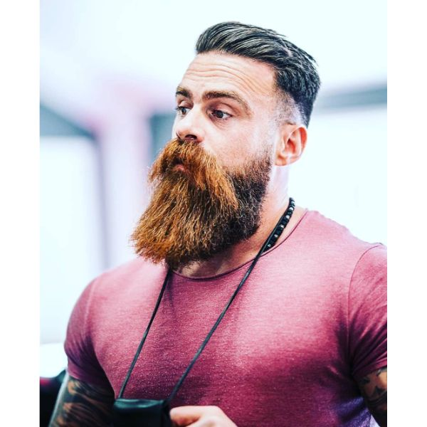 High Fade with Long Hipster Beard