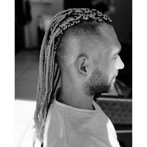 High and Tight Fadecut with Long Dreadlocks and Hair Pieces