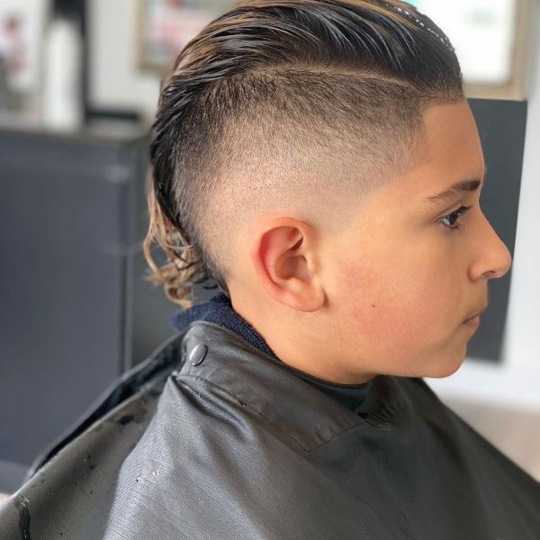 High and Tight Haircut with Fake Mullet for Wavy Hair
