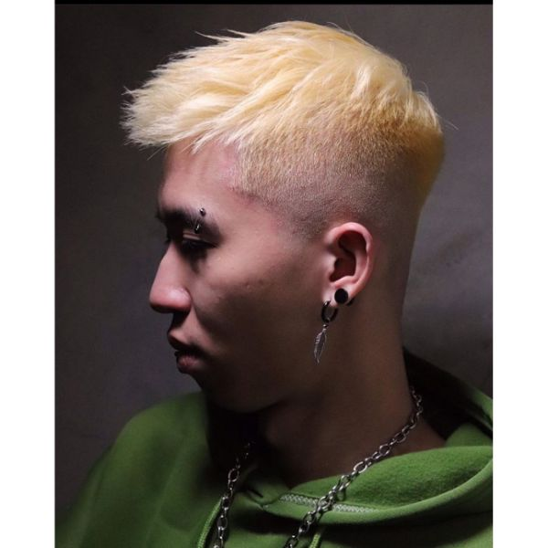 High and Tight Haircut with Layered Top for Blonde Hair