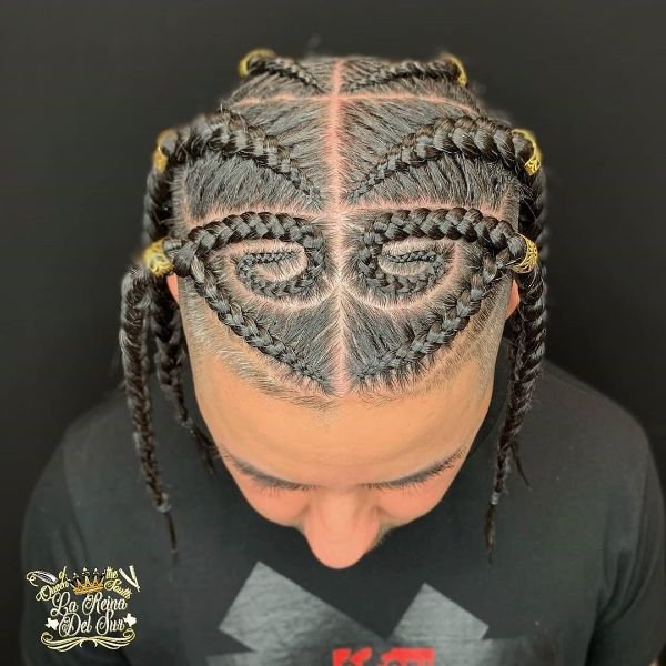High and Tight Undercut withHigh and Tight Undercut with Spiraled Box Braids Spiraled Box Braids