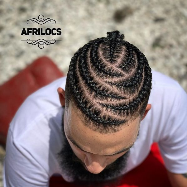 Imbedded Cornrows for Long Hair