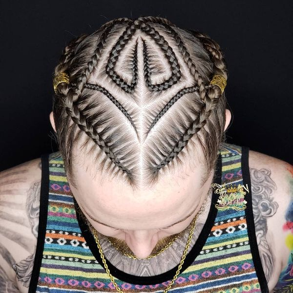 Intricate Design  Cornrows for Straight Hair
