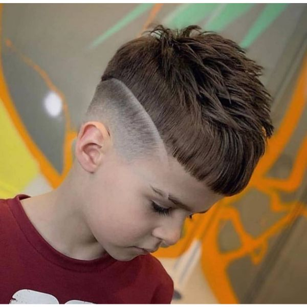 Long Cropped Top with Skin Fade and Surgical Line