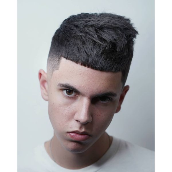 Messy Rob Crop Haircut for Straight Hair