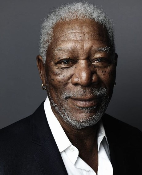 Morgan Freeman's Short Crop for Curly White Hair and Stubby Beard