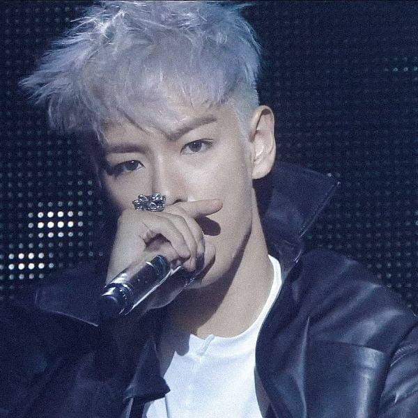 Nordic Ice Blonde Cropped Haircut for Korean Men