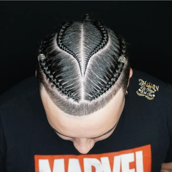 Oval Shaped Cornrows