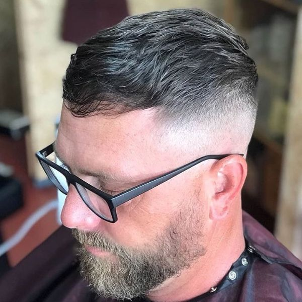 Sharp Fade with Textured Long Top