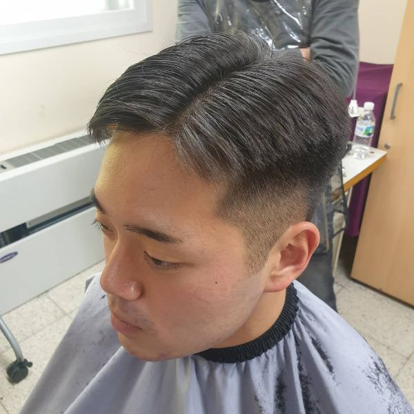 Short Shape-up with Middle Part