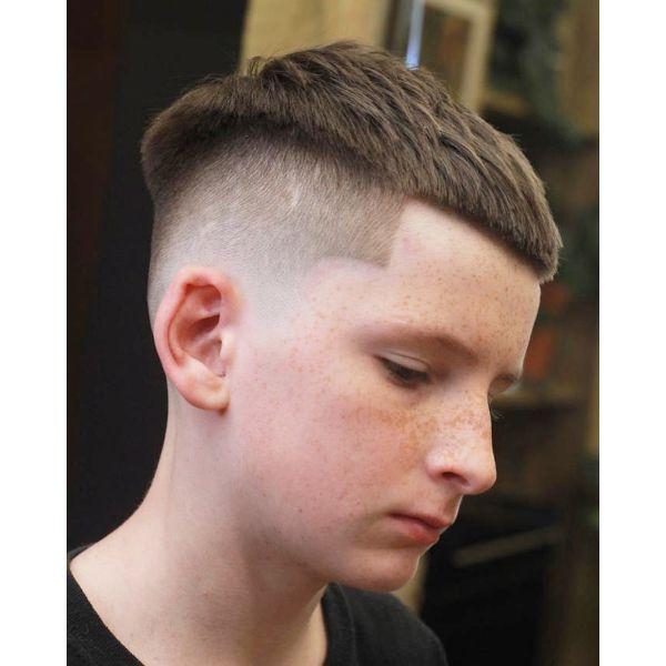 Skin Fade Crop Top Haircut for Boys