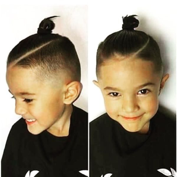 Skin Fade with Top Knot
