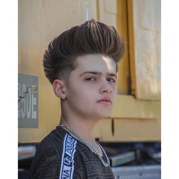 Sky High Top Haircut for Boys with Straight Hair