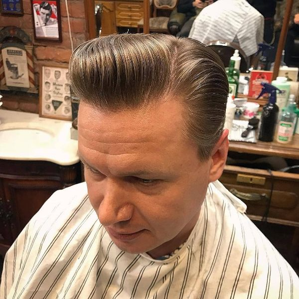 Slick-Back Classic Short Hairstyle for Older Men