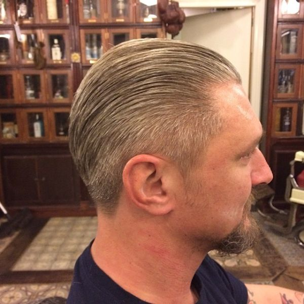 Slickback Haircut for Older Men