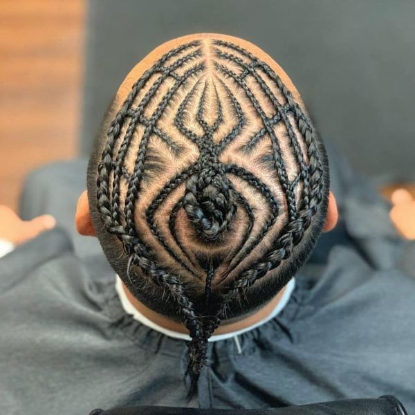 Spiderman Pattern for Box Braids