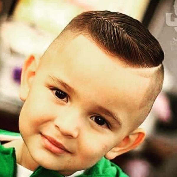 Subtle Pompadour Boys Haircut for Straight Hair