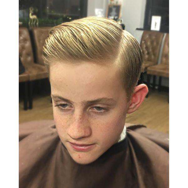 Taper Haircut for Blonde Thin Hair