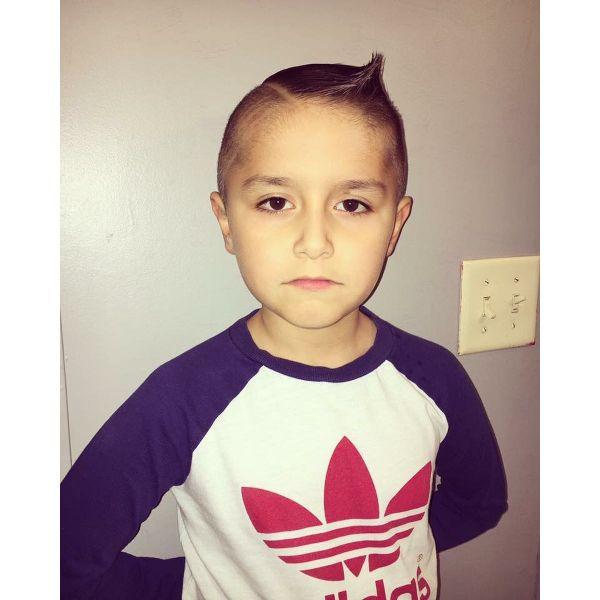 Ultra-Short Pompadour Style Fade Haircut