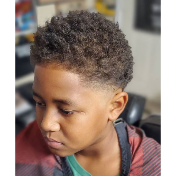 Undercut and Short Trimmed Curly Top
