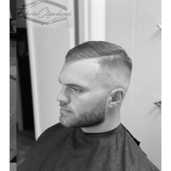 Bald Fade with Side Part