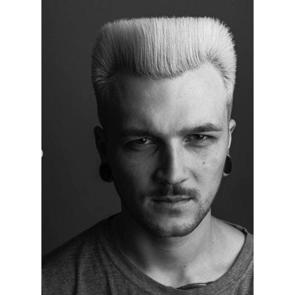 Blonde Flattop Taper Cut