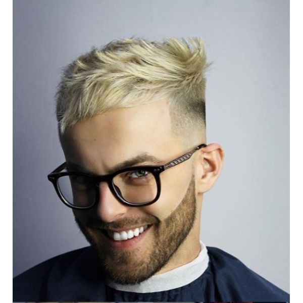 Blonde Messy Crop Short Sides Long Top Hairstyles
