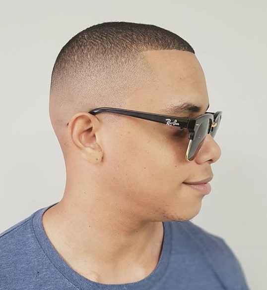 Classic Buzz Cut Hairstyle for Teenage Guys