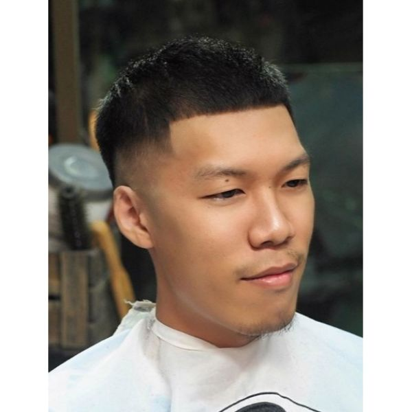 Classic French Crop Hairstyles for Asian Men