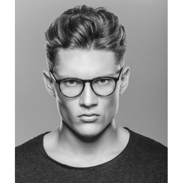 Classic Taper Fade cut Hairstyle For Teenage Guys