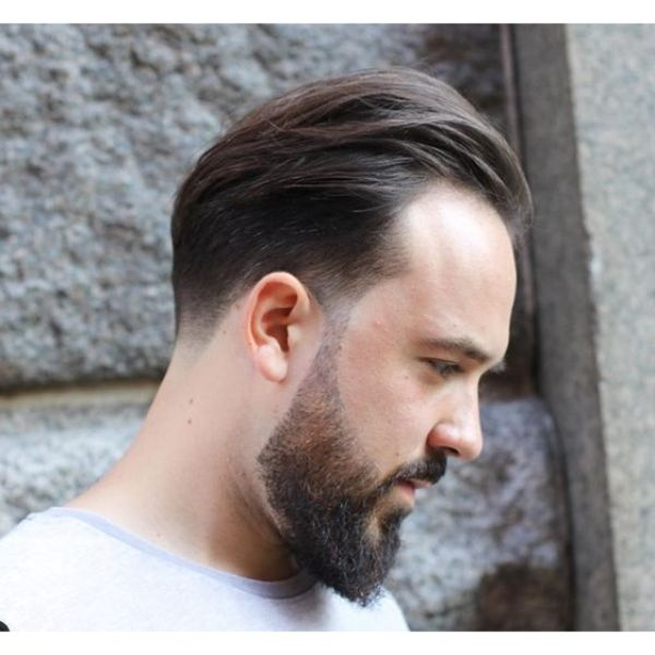 Classic Taper Fade with Trimmed Beard