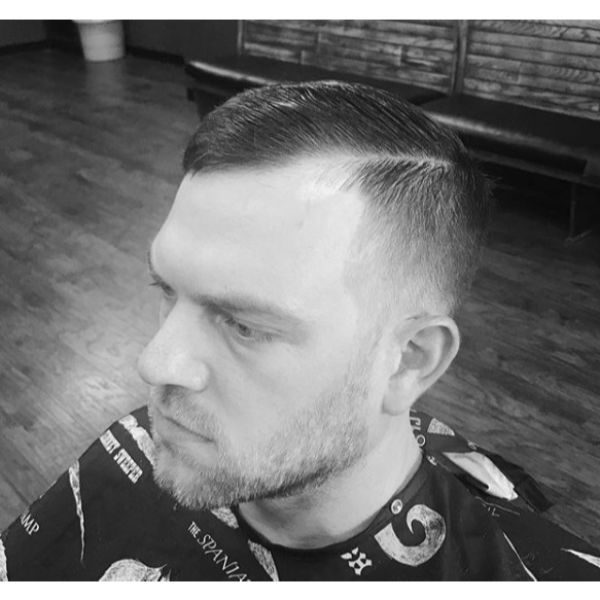 Clipper Over Comb Shadow Fade with Shear Top