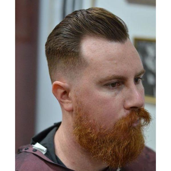 Combover Taper Fade for Balding Men