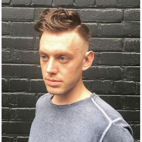 Curly Blonde Short Sides Long Top Hairstyle