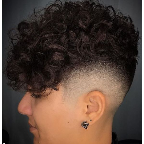 Curly Fade Short Sides Long Top Hairstyles