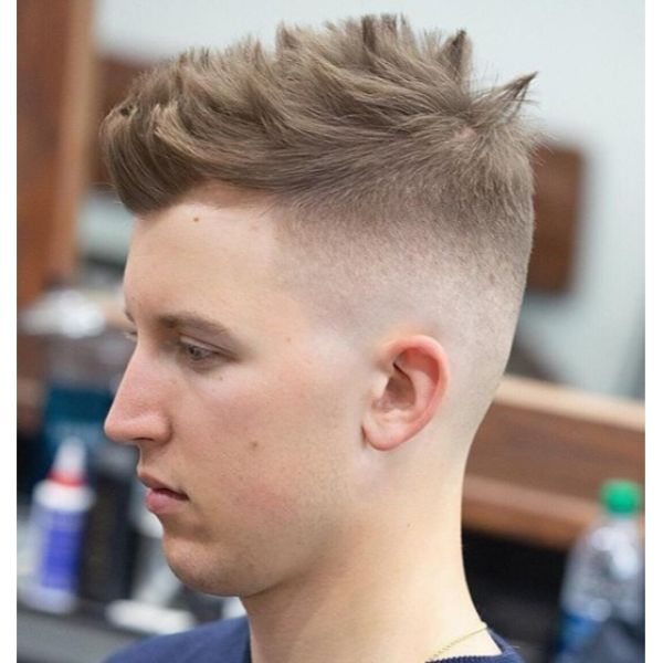 Dry Piecey Textured Top for High Fade Short Sides Long Top