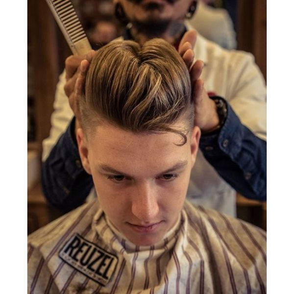Elephant's Trunk Hairstyle for Teenage Guys