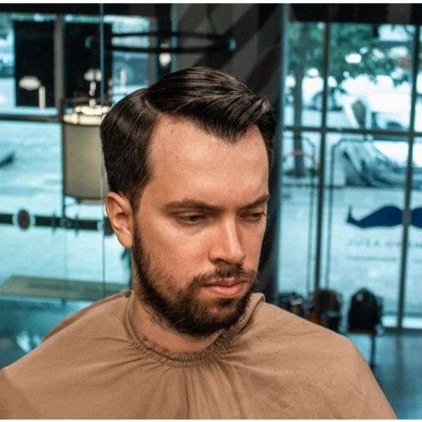 Executive Contour for Widow Peak Hairstyle