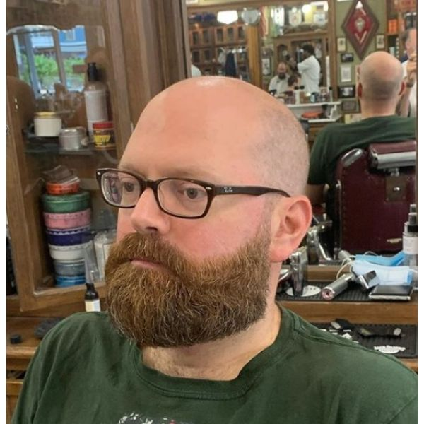 Fade Haircut with Medium Beard