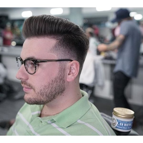 Flatop Pompadour Hairstyle for Balding Men